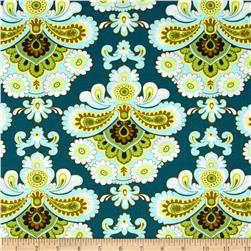 Amy Butler Belle French Wallpaper Spruce Fabric