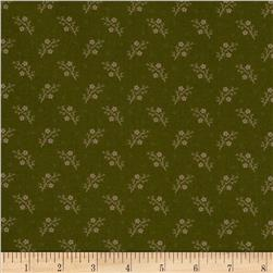Moda Floral Gatherings Flax Flower Olive