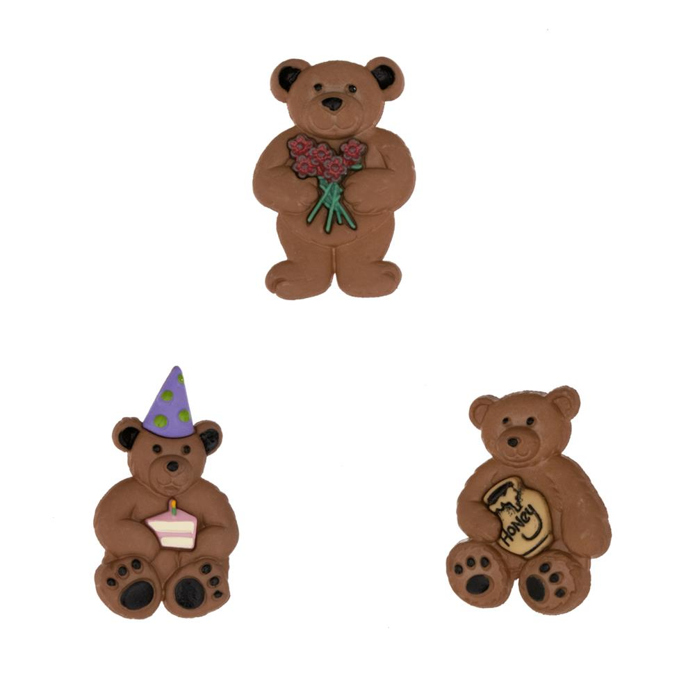 Dress It Up Embellishment Buttons  Bunches Of Bears