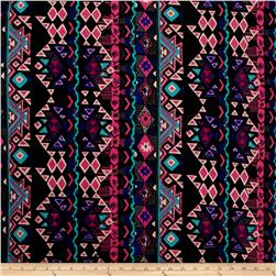 ITY Knit Aztec Royal Blue Hot Pink