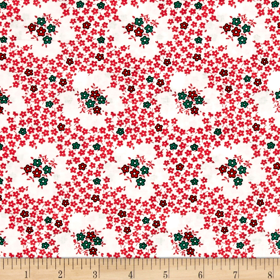 Image of Everything But The Kitchen Sink Teatime Sweet Pea Fabric