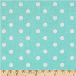 Baby Talk Aspirin Dot Aqua/White Fabric