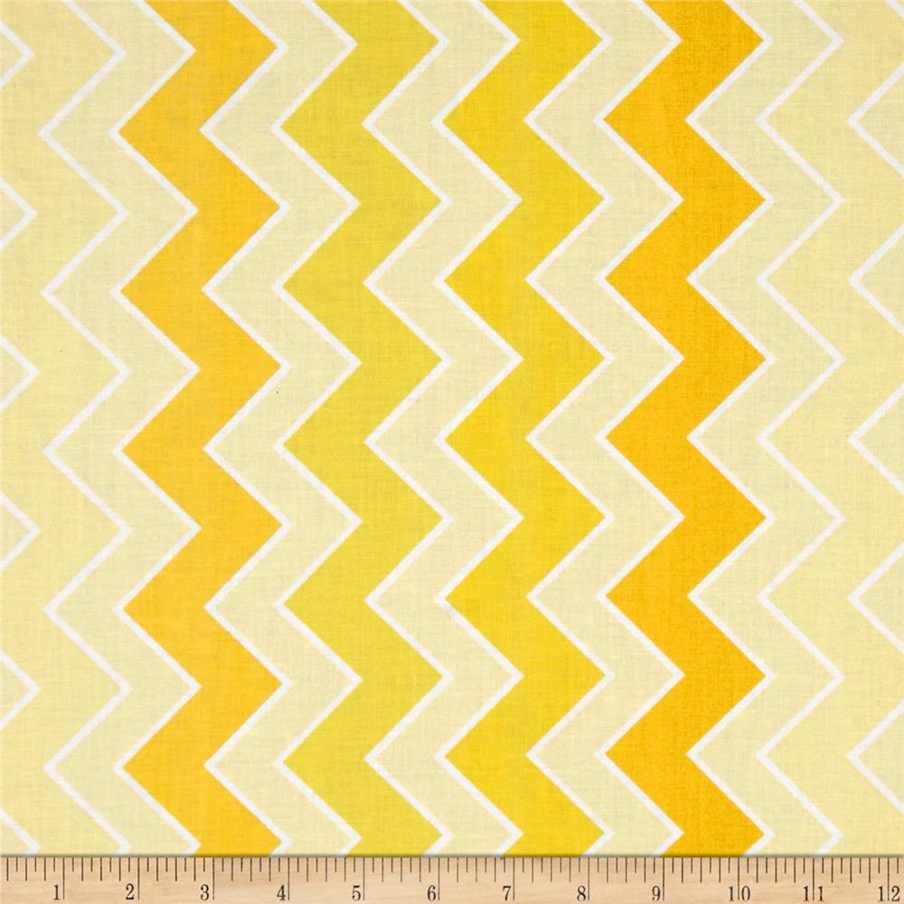 Riley Blake Medium Shaded Chevron Sunrays