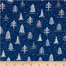 Naughty Or Nice? Christmas Trees Navy