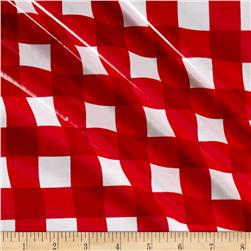 "Riley Blake 1"" Gingham Laminate Red"