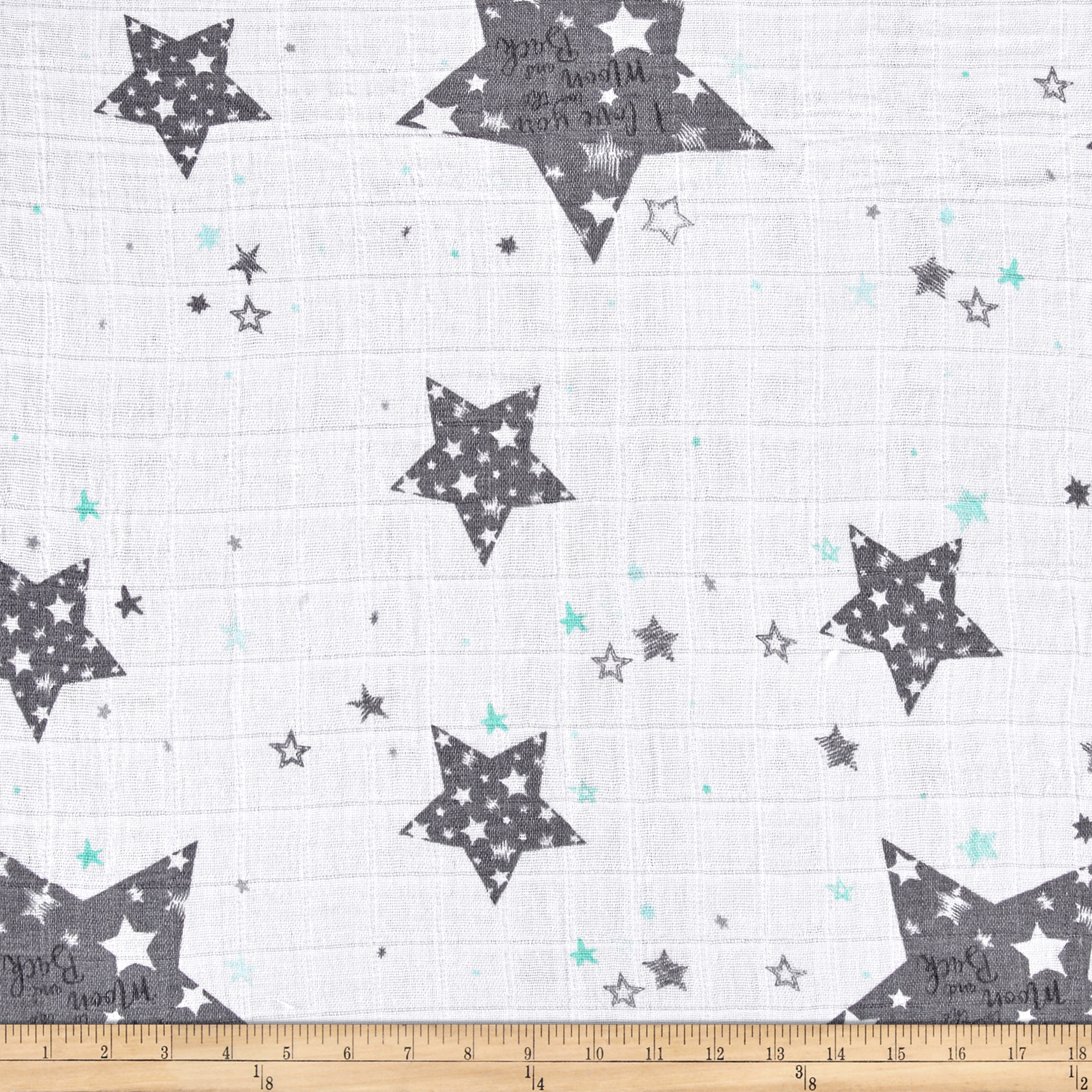Image of Shannon Embrace Double Gauze To The Moon Steel Fabric