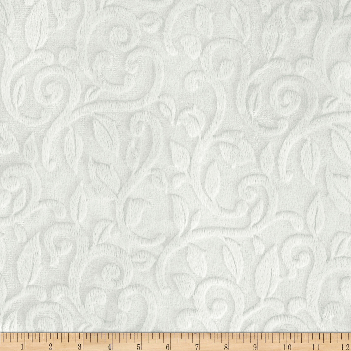 Shannon_Minky_Cuddle_Embossed_Vine_White_Fabric