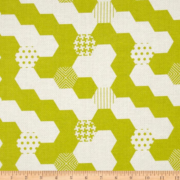 Michael Miller Textured Basics Hexies Lime
