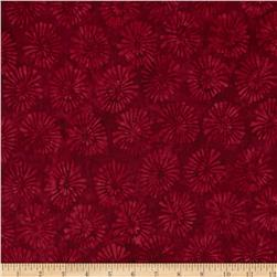 Timeless Treasures Tonga Batik Pom Poms Ruby Fabric