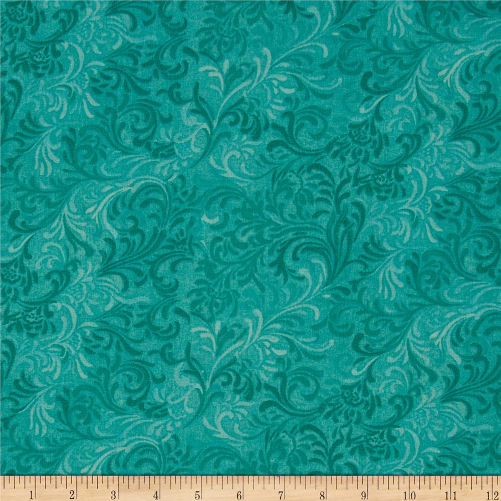 108 essential flourish quilt backing aqua discount for Quilting material