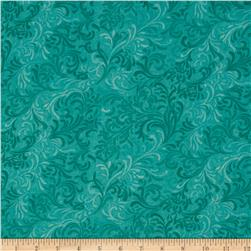 "108"" Essential Flourish Quil Back Aqua"
