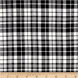 Yarn Dyed Flannel Mini Plaid Black/White