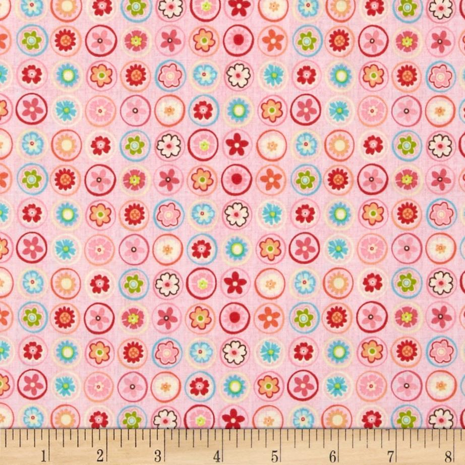 Riley Blake Happy Flappers Circles Pink