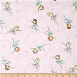Timeless Treasures Starry Night Forest Tossed Fairies Pink
