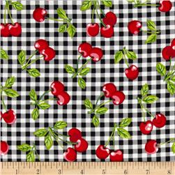 Fruit Basket Cherries Gingham Onyx