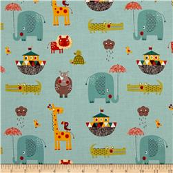 Riley Blake Giraffe Crossing 2 Main Teal