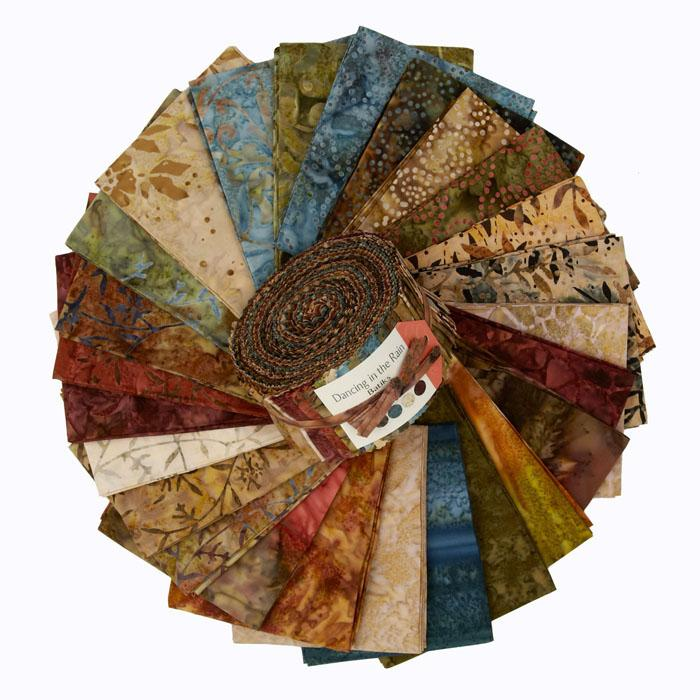 Moda Dancing In The Rain Batik 2 1/2'' Jelly Roll