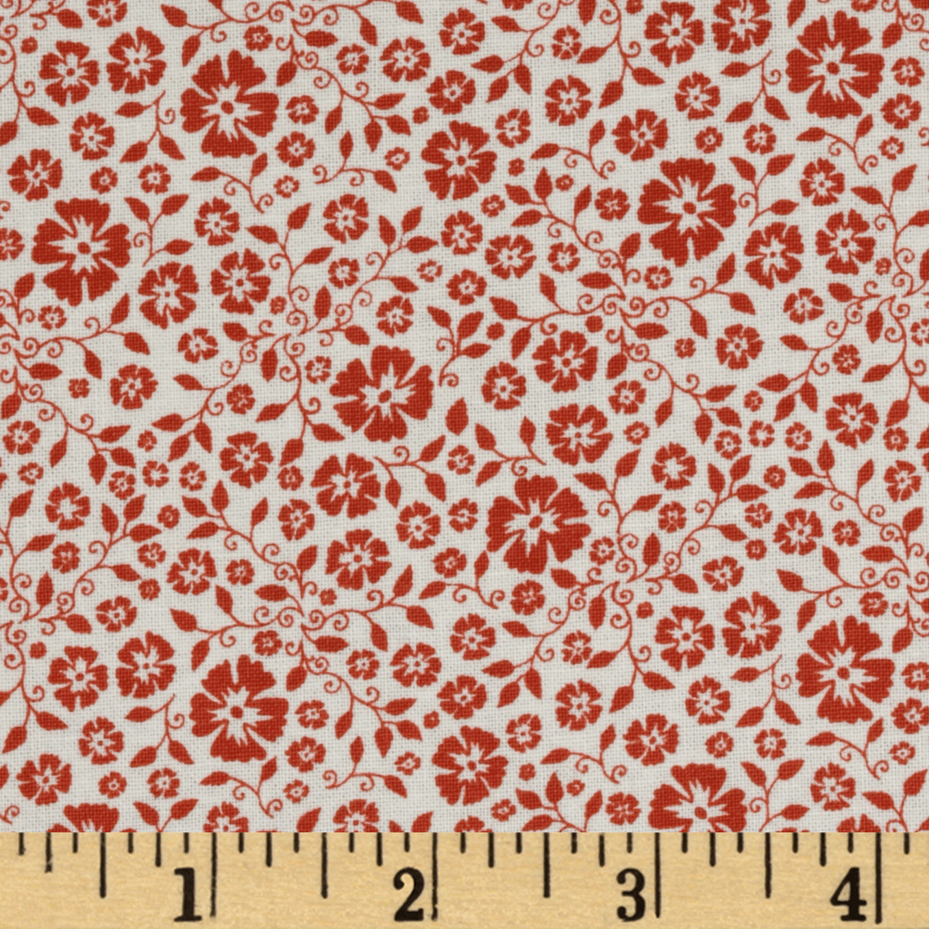 Riley Blake Round Up Floral Red Fabric