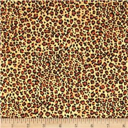 Safari Leopard Skin Black/Brown/Gold
