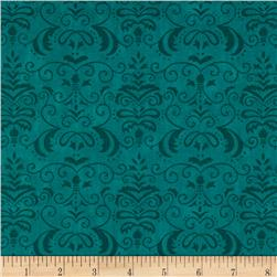 Moda Forest Fancy Autumn Damask Autumn Teal
