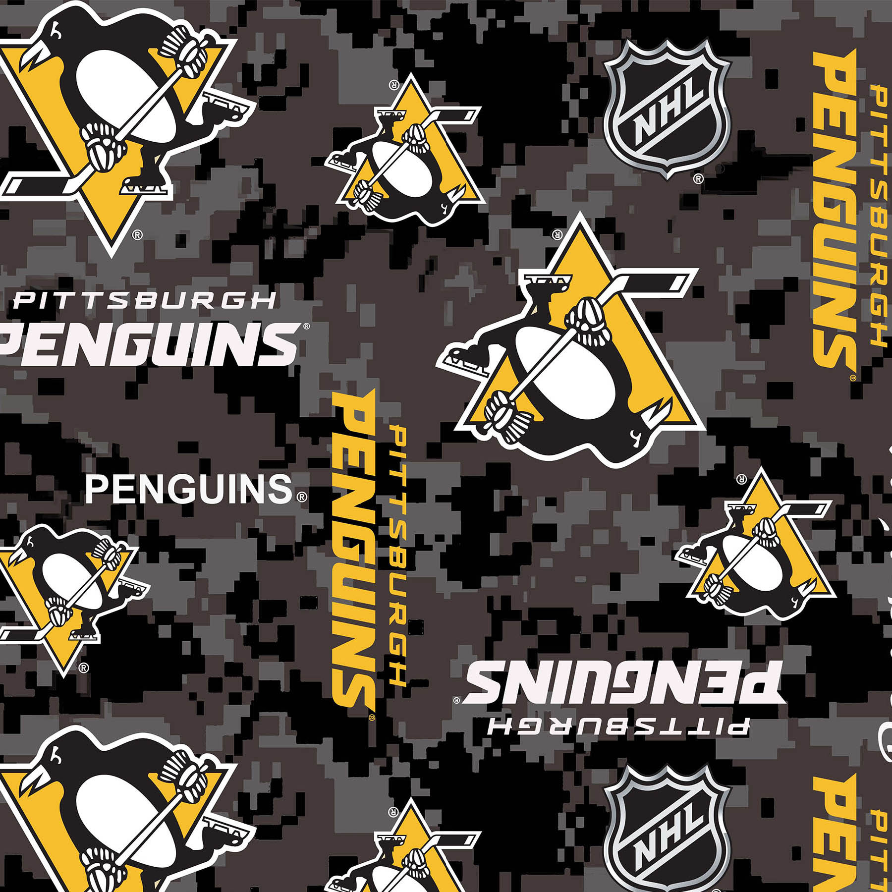 NHL Fleece Pittsburgh Penguins Digi Fabric 0572164