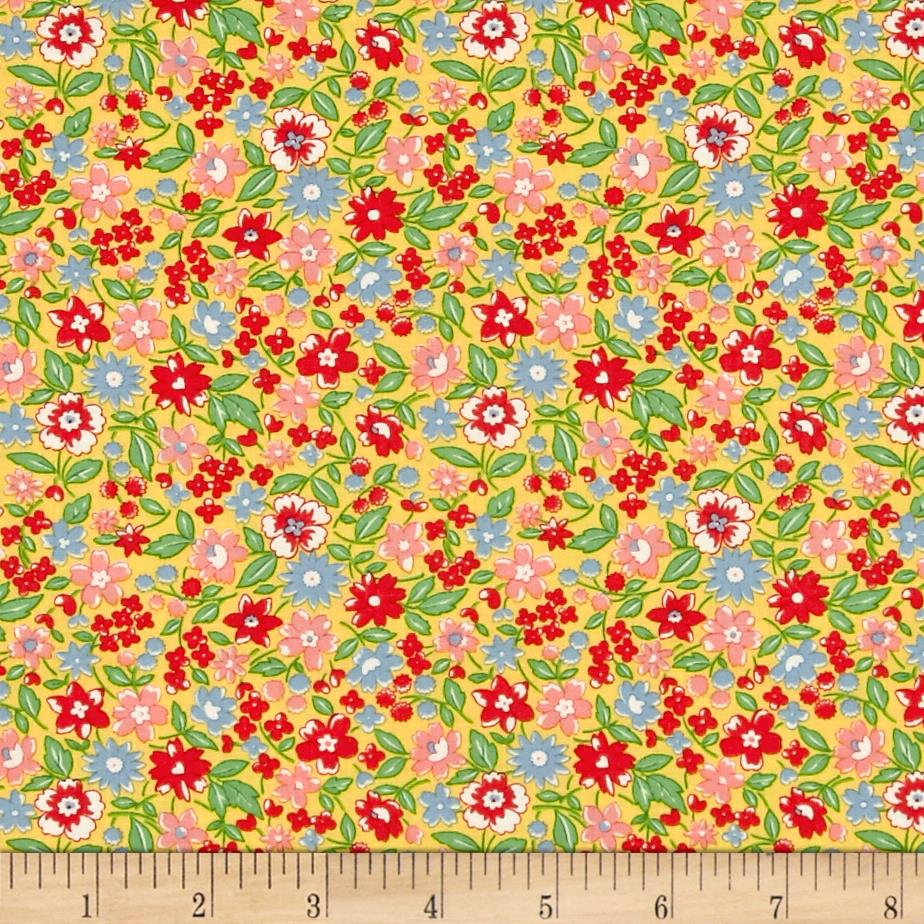 Moda 30's Playtime 2017 Bloomin Bouquet Buttercup