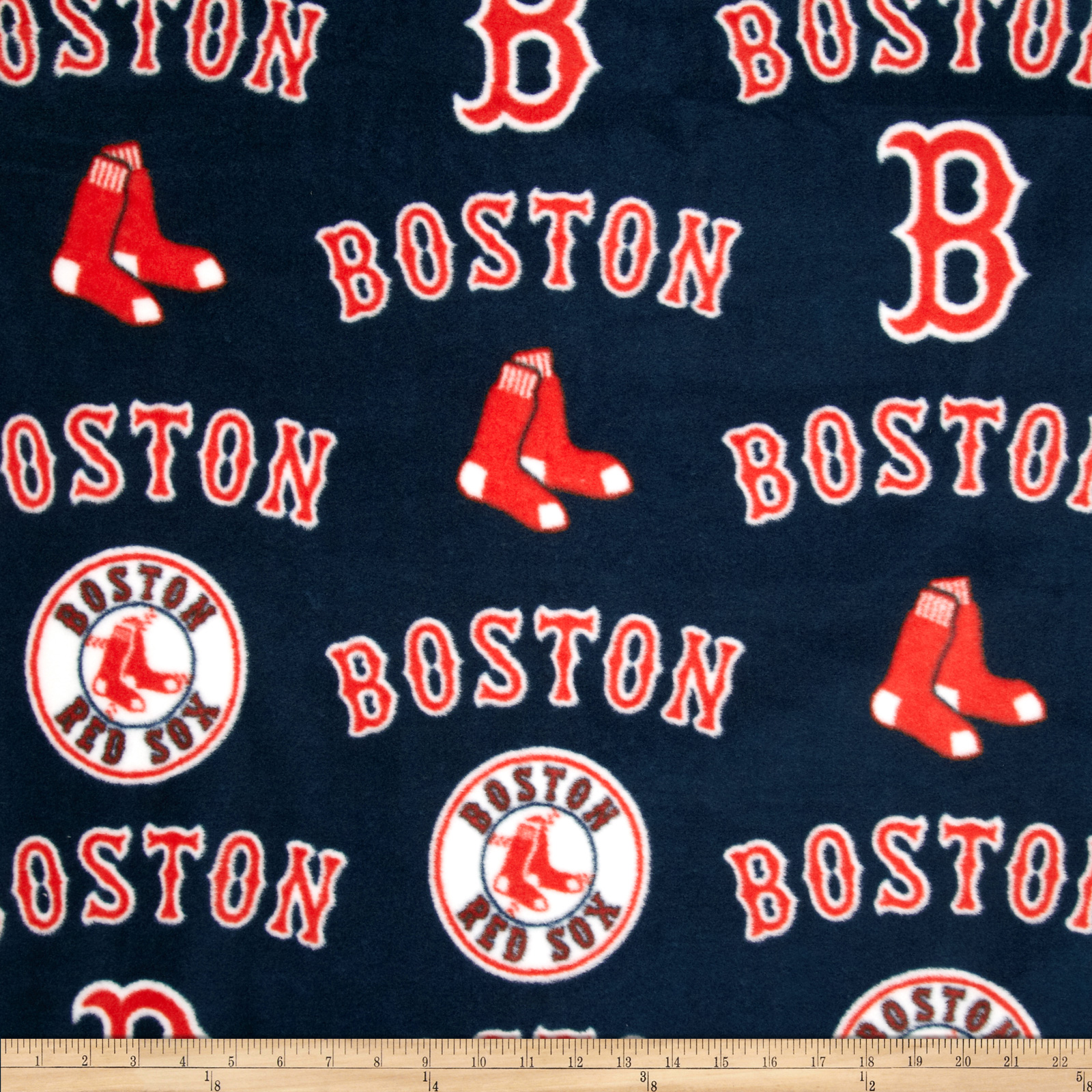 MLB Fleece Boston Red Sox Toss White/Red Fabric