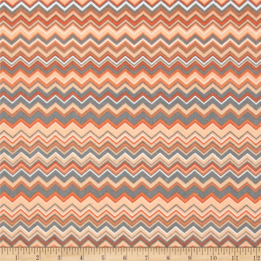 Chevron Flannel Orange