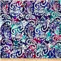 Indian Batik Paisley Purple/Fuchsia/Teal