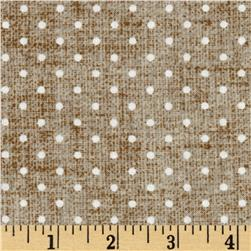 American Beauty Linen Dot Allover Tan