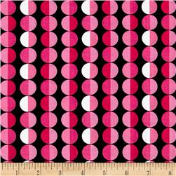 Kanvas Think Pink Cool Dot Black/Pink Fabric