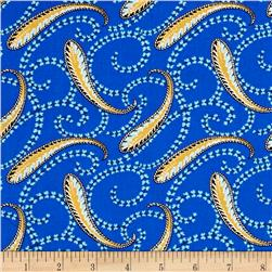 Medallion Muse Paisley Blue/Yellow/Teal