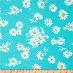 Soft Jersey Knit Floral Green/White/Yellow