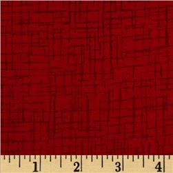 110 In. Wide Quilt Back Betula Flannel Red