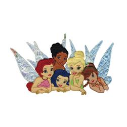 Disney Fairies Iron On Applique Fairy Group