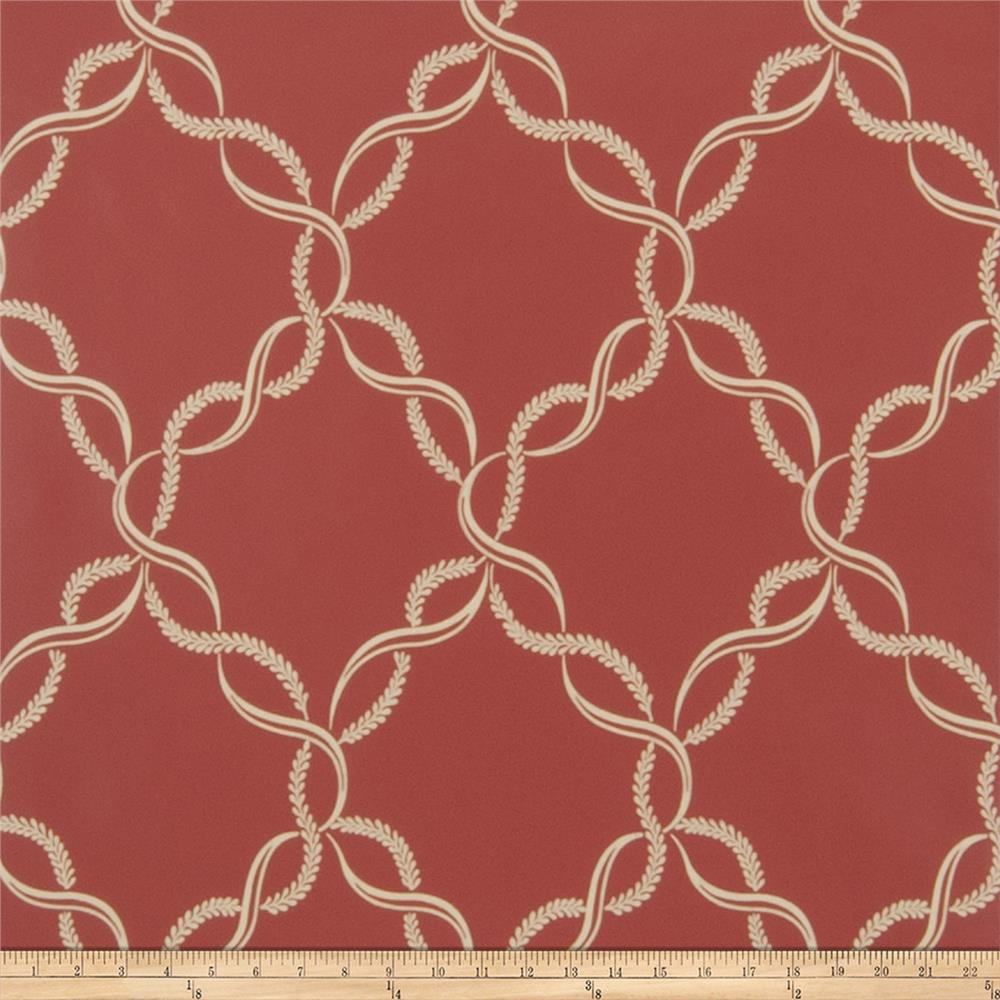 Fabricut Madeleine Wallpaper Rouge (Double Roll)