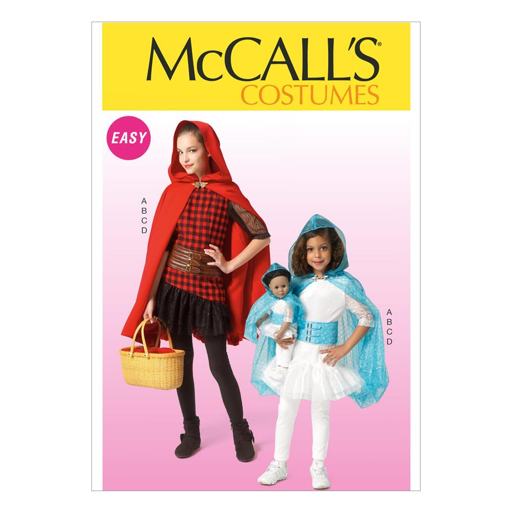 McCall's Children's/Girls'/Dolls' Costumes Pattern M7035 Size CCE