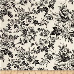 Quartette Collection Large Floral Cream/Black