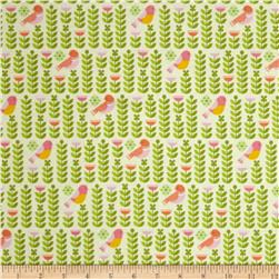 Forest Parade Organic Birds Pink