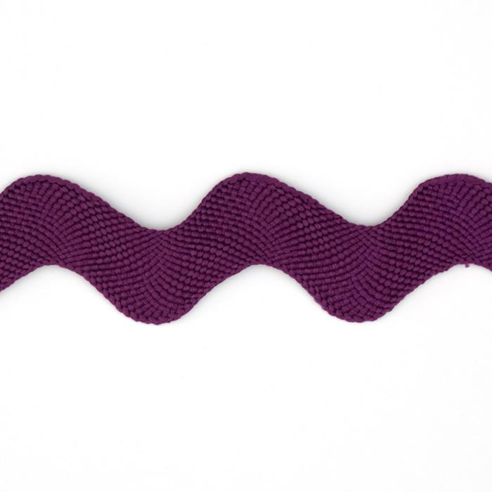 "1"" Ric Rac Polyester Large Trim Purple"