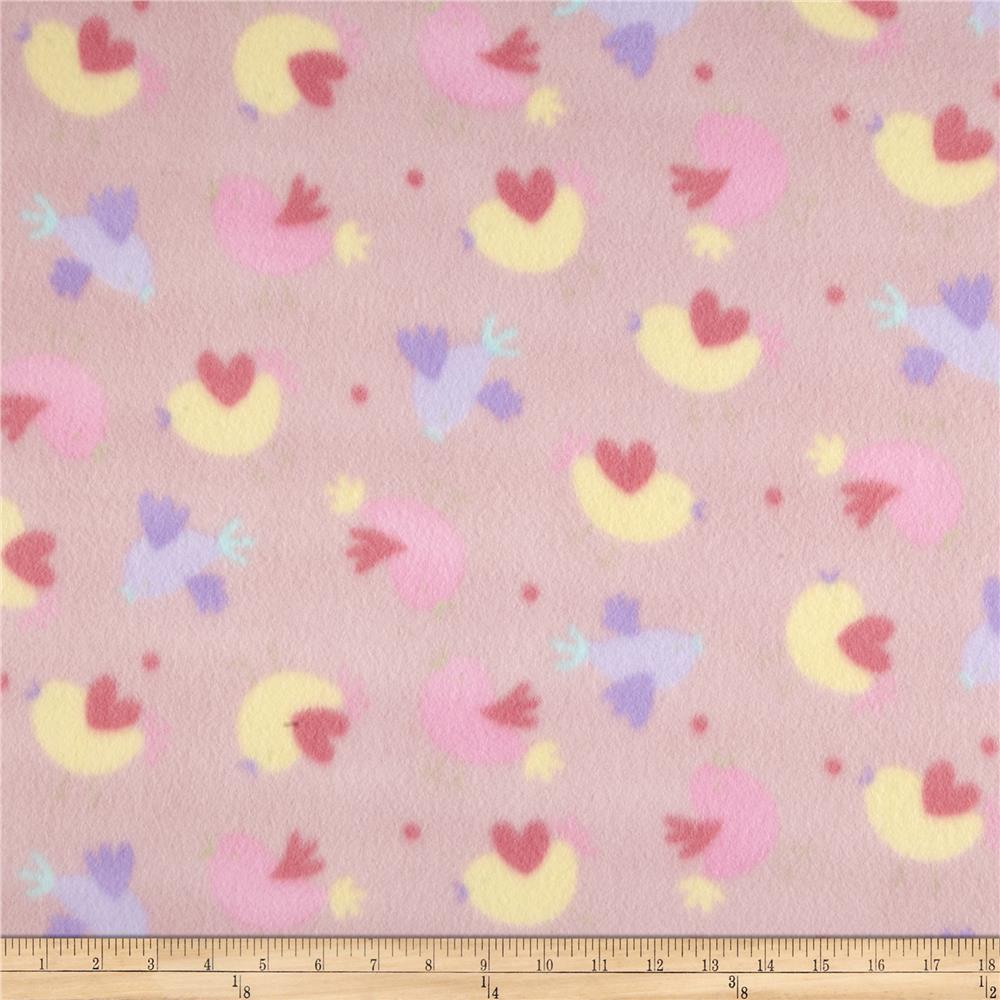 Juvenile fleece baby girl hearts pink yellow purple for Purple baby fabric