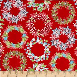 Sparkle Wreaths Red