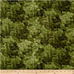 "108"" Wide Charisse Quilt Back Tonal Floral Green"