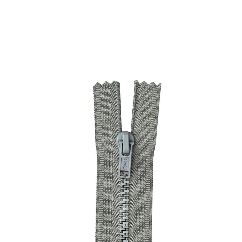 "Metal All Purpose Zipper 7"" Nugrey"