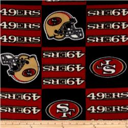 NFL Fleece San Francisco Squares Black/Red