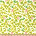 Heather Ross Briar Rose Cricket Clover Pink/White