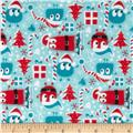 Ooga Booga Christmas PUL Red/Blue