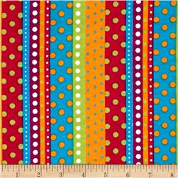 Flannel Dotted Stripe Bright