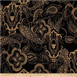 Liverpool Double Knit Paisley Navy
