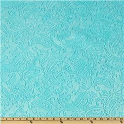 Shannon Minky Paisley Cuddle Embossed Topaz